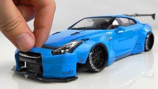 Como construir um passeio super realista da Nissan  GT-R R35 passo a passo
