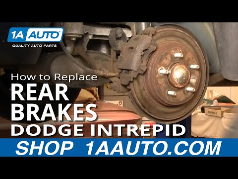 How To Replace Rear Brakes 98 04 Dodge Intrepid YouTube
