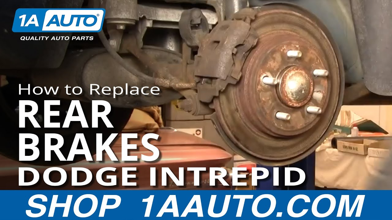 How To Install Replace Rear Brakes on Dodge Intrepid 9804