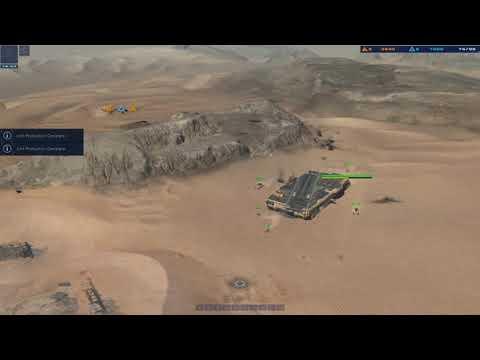 DESERTS OF KHARAK, skirmish, coalition v gaalsien or 1 v 1, easy AI difficulty. |