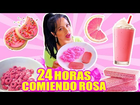 24 HORAS COMIENDO ROSA | RETO SandraCiresArt | All Day Eating Pink Food Challenge