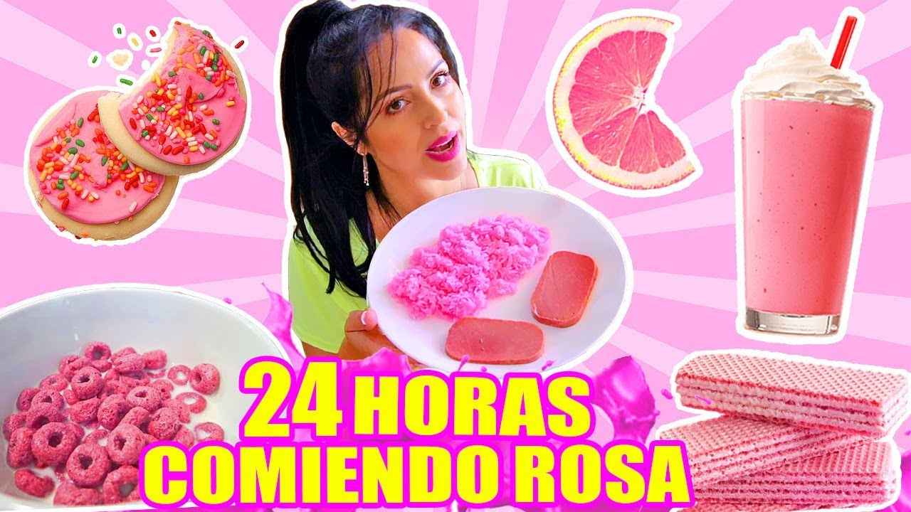 24 Horas Comiendo Rosa Reto Sandraciresart All Day Eating Pink Food Challenge Video Analysis Report