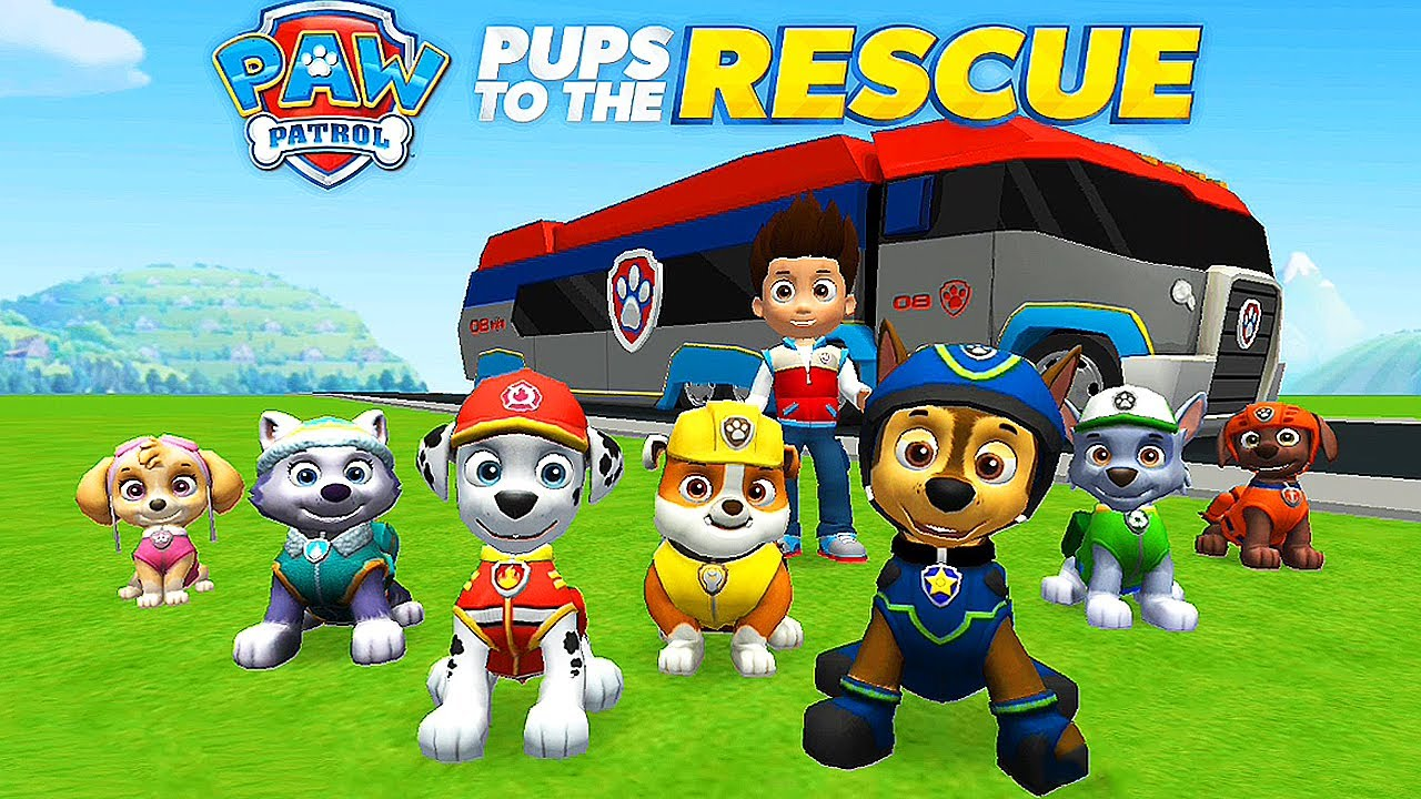 paw patrol pups to the rescue  cartoon games kids tv