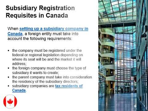 How to create a subsidiary company in usa