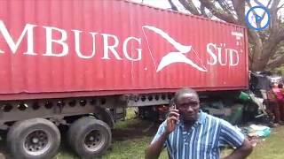 A trailer driver dies after hitting a tree along the Nakuru-Nairobi Highway
