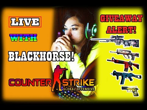 🔴CS:GO LIVE STREAM WITH BLACKHORSE! LET'S PLAY SOME CSGO! 💃 😁 #34