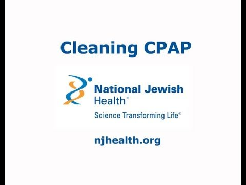 Cleaning CPAP Equipment