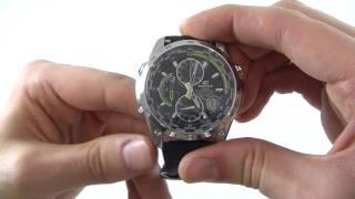 Men's Casio Edifice Wave Ceptor Chronograph Watch EQW-500E-1AVER - Watch Shop UK