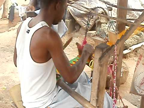 Making Kente Cloth in Adanwomase, Ghana, Africa