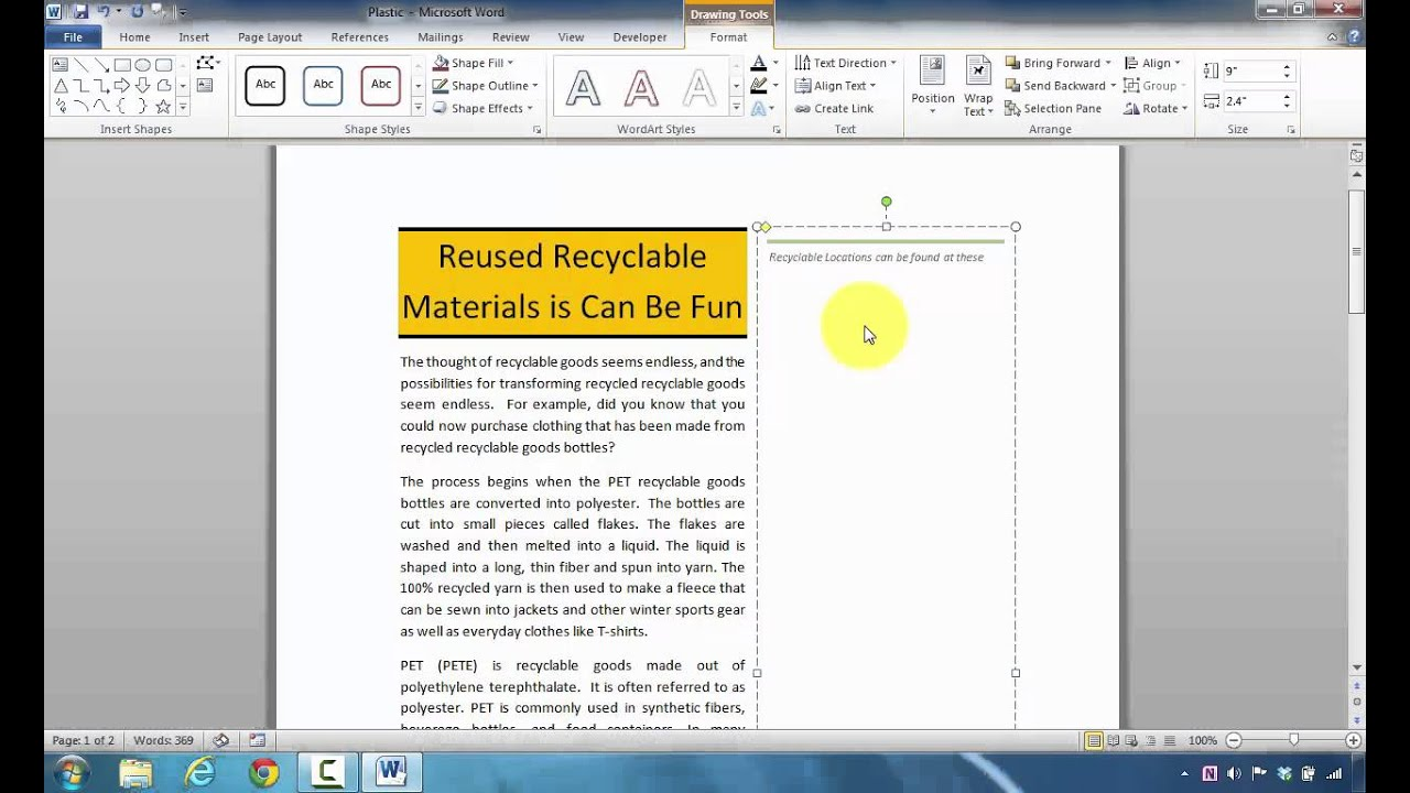 How to insert a newsletter magazine stacks sidebar in microsoft how to insert a newsletter magazine stacks sidebar in microsoft word to highlight information spiritdancerdesigns Images