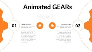 Animated spinning gears in powerpoint.Powerpoint tricks