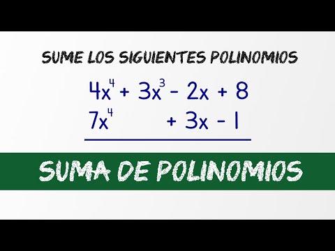 Suma de polinomios | Video 2 | Ejercicio resuelto | HD thumbnail