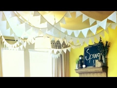 How To Make Flags Banners Diy Party Decoration Youtube