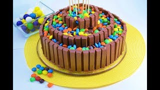 How To Make A No Bake Candy Bar Cake - Kit Kat Cake | Radacutlery.com