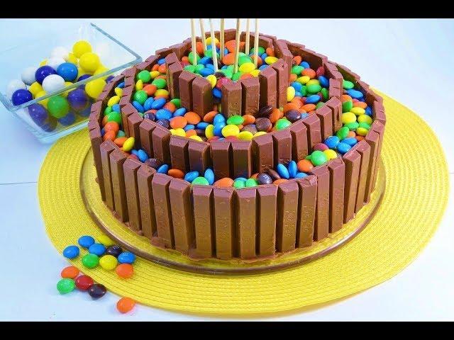 How To Make A No Bake Candy Bar Cake Kit Kat Radacutlery Com Youtube