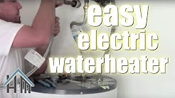 How to replace an electric water heater. The Home Mender