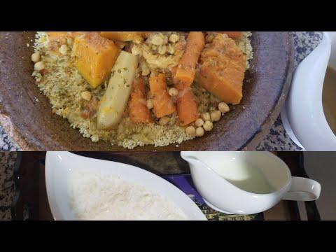 كسكوس-مغربي-بدقيق-الذرة(بذاز)/-couscous-de-la-farine-de-maïs