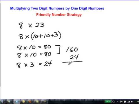 mental math multiplication friendly numbers 8x23 youtube