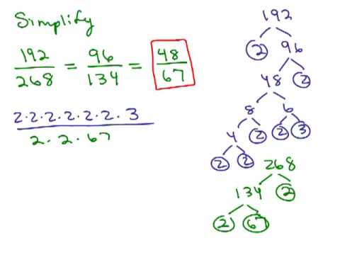 How to Simplify and Reduce Fractions part 2 - YouTube