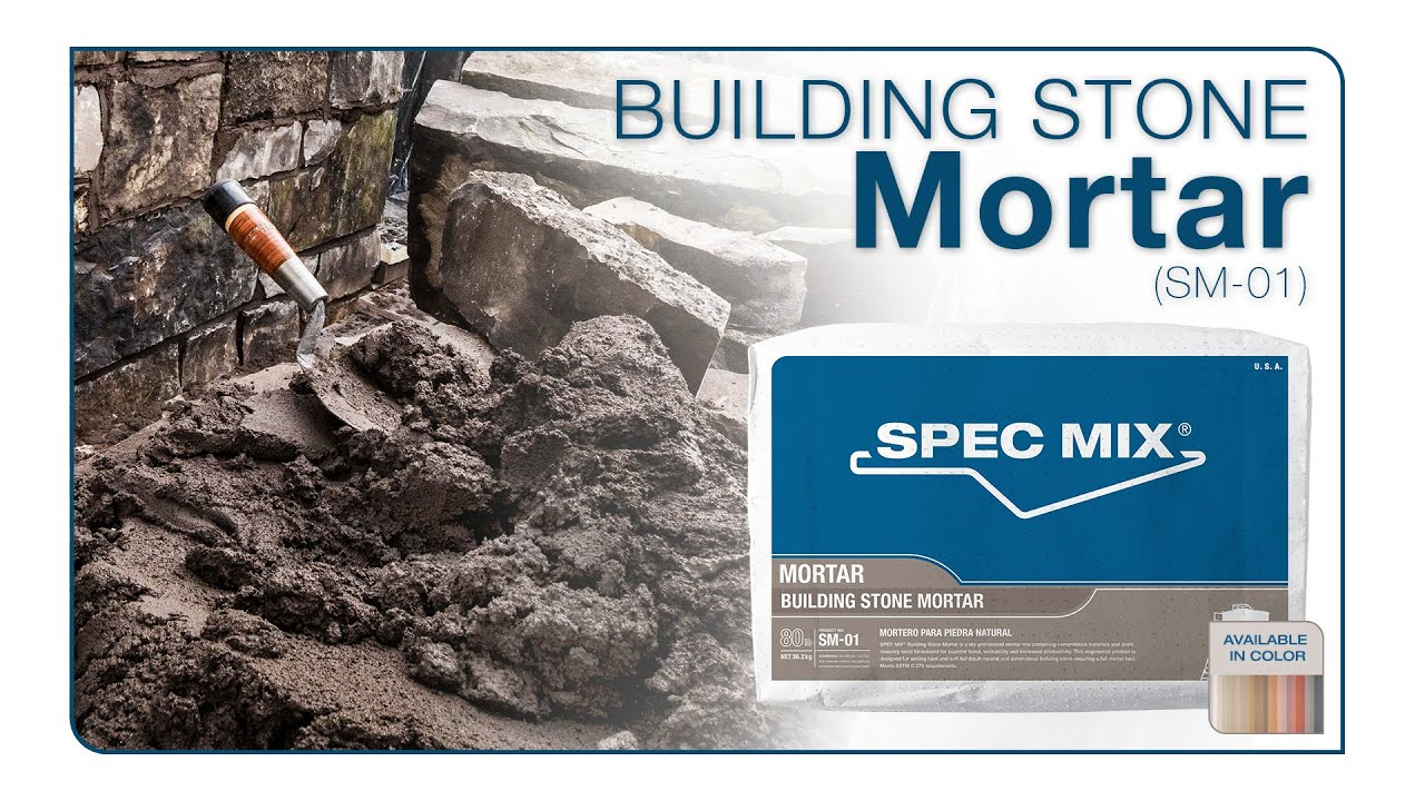 Marble Mortar Mix : Spec mix building stone mortar youtube