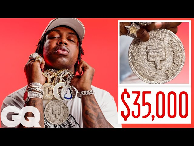 EST Gee Shows Off His Insane Jewelry Collection | On the Rocks | GQ