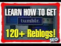 Get 120+ Reblogs On Tumblr - Fiverr Exclusive - SEO Backlinks