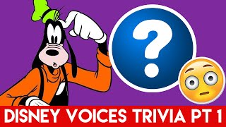 Disney Trivia - Character Voices - Part 1
