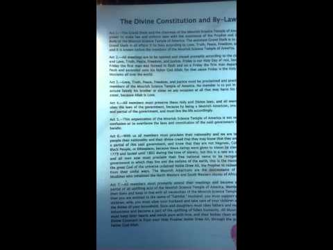 The Divine Constitution and By-Laws