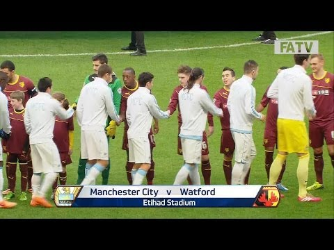 Manchester City vs Watford 4-2, FA Cup Fourth Round 2013-14 highlights