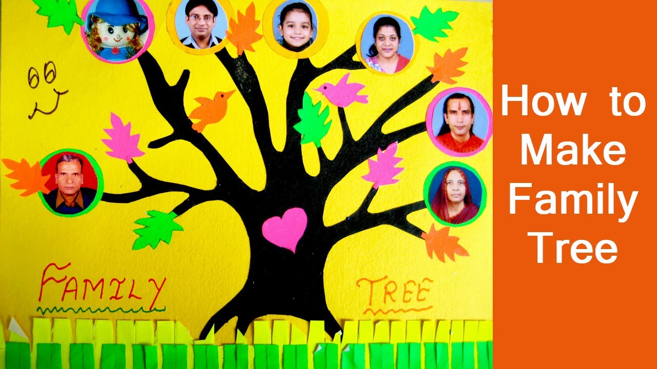 family tree for kids project how to make your own simple family tree for scrapbook youtube