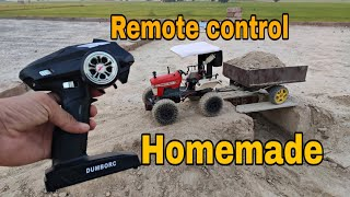 Swaraj 963 Homemade Remote control tractor model video Part-1