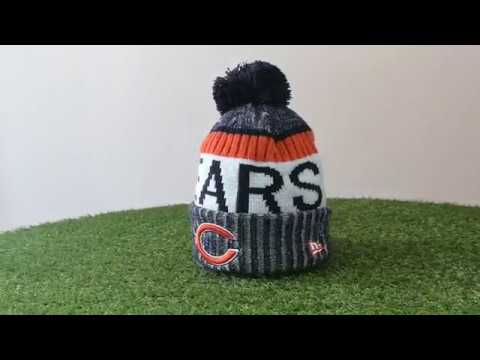 Chicago Bears NFL 2017 18 Sideline Official Sport Knit New Era sapka ... 0f4b8d56e