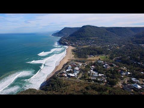 DJI Phantom 3 Drone Bald Hill above Stanwell Park NSW Australia Part 1