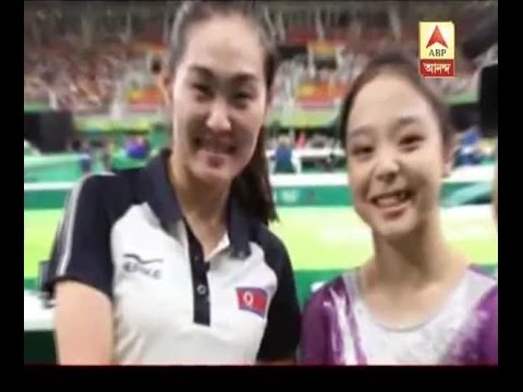 Rio Olympic 2016: : North and South Korean gymnasts pose for Olympic selfie