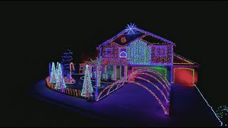 dubstep cadger family light show the great christmas light fight