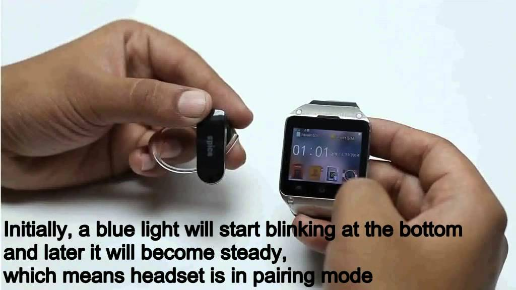 Spicesmart M 9010 How To Pair Watch With Bluetooth Headset Youtube