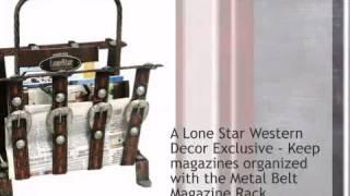 Metal Belt Magazine Rack - Lonestarwesterndecor.com