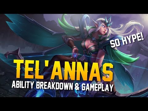 Arena of Valor News: TEL'ANNAS ABILITIES & GAMEPLAY!!