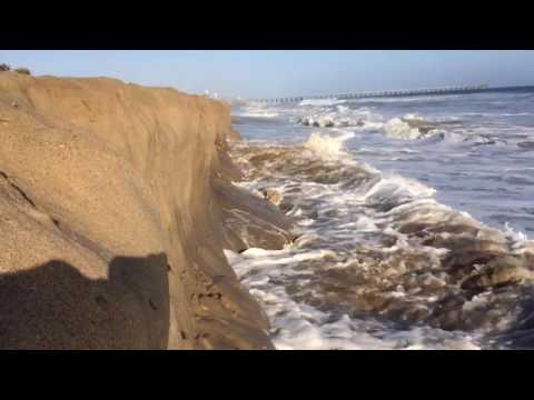 Sand Erosion At Port Hueneme Beach