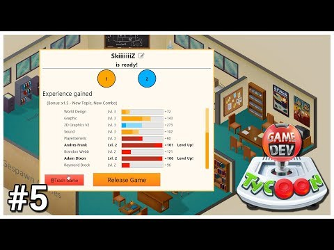 Game Dev Tycoon - #5 - Poor Work Ethic - Let's Play / Gameplay / Construction
