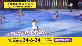 Ледовое шоу «Бременские музыканты» в ледовом дворце «Сияние севера» 3 января 2018 г. Печора