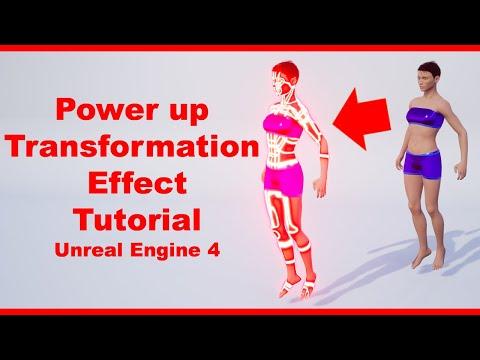 Power up Transformation Effect | Tutorial | Matirial | Random Character | Unreal Engine 4 Tutorial