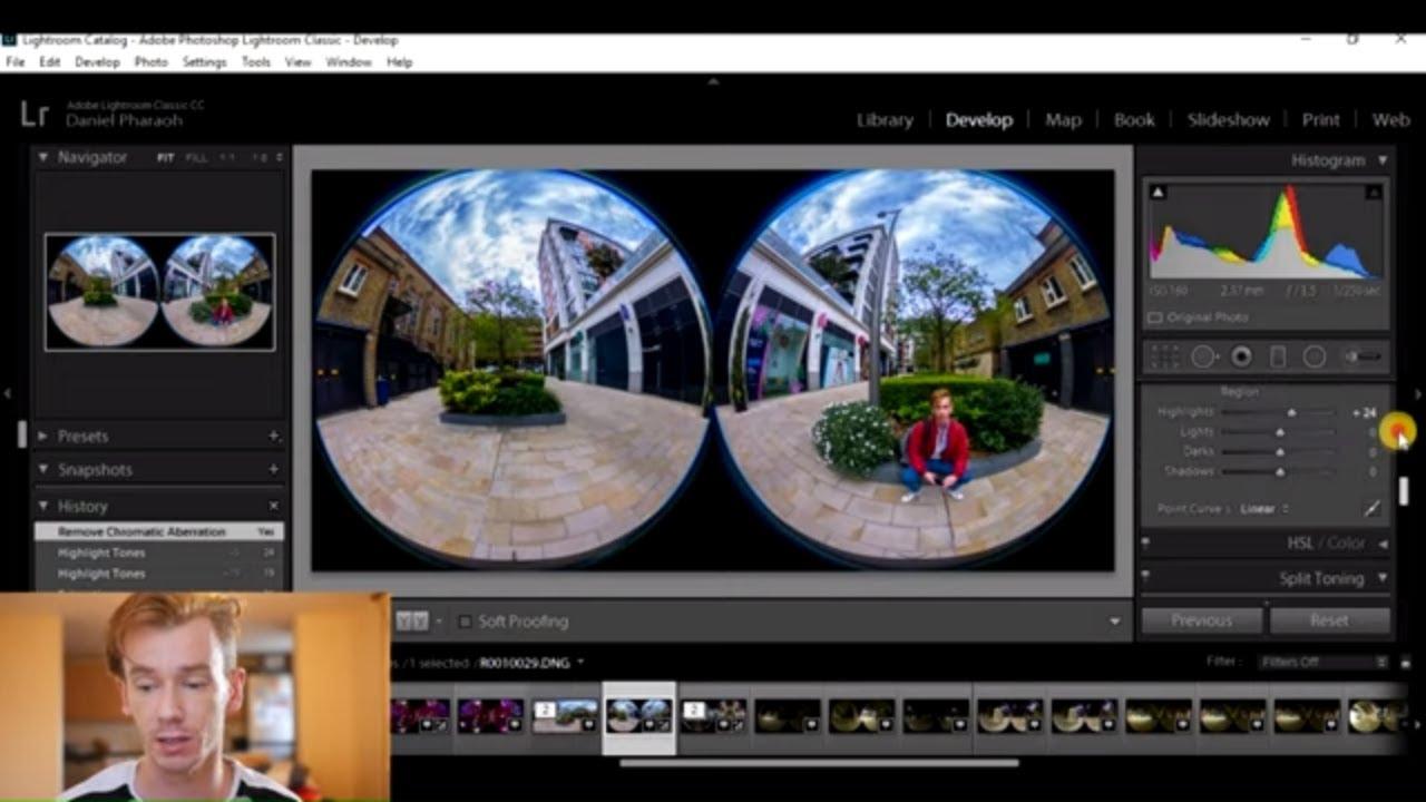 Ricoh Theta Stitcher and Lightroom Tutorial - 360° Camera