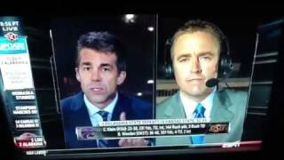 Kirk Herbstreit a little nervous during earthquake