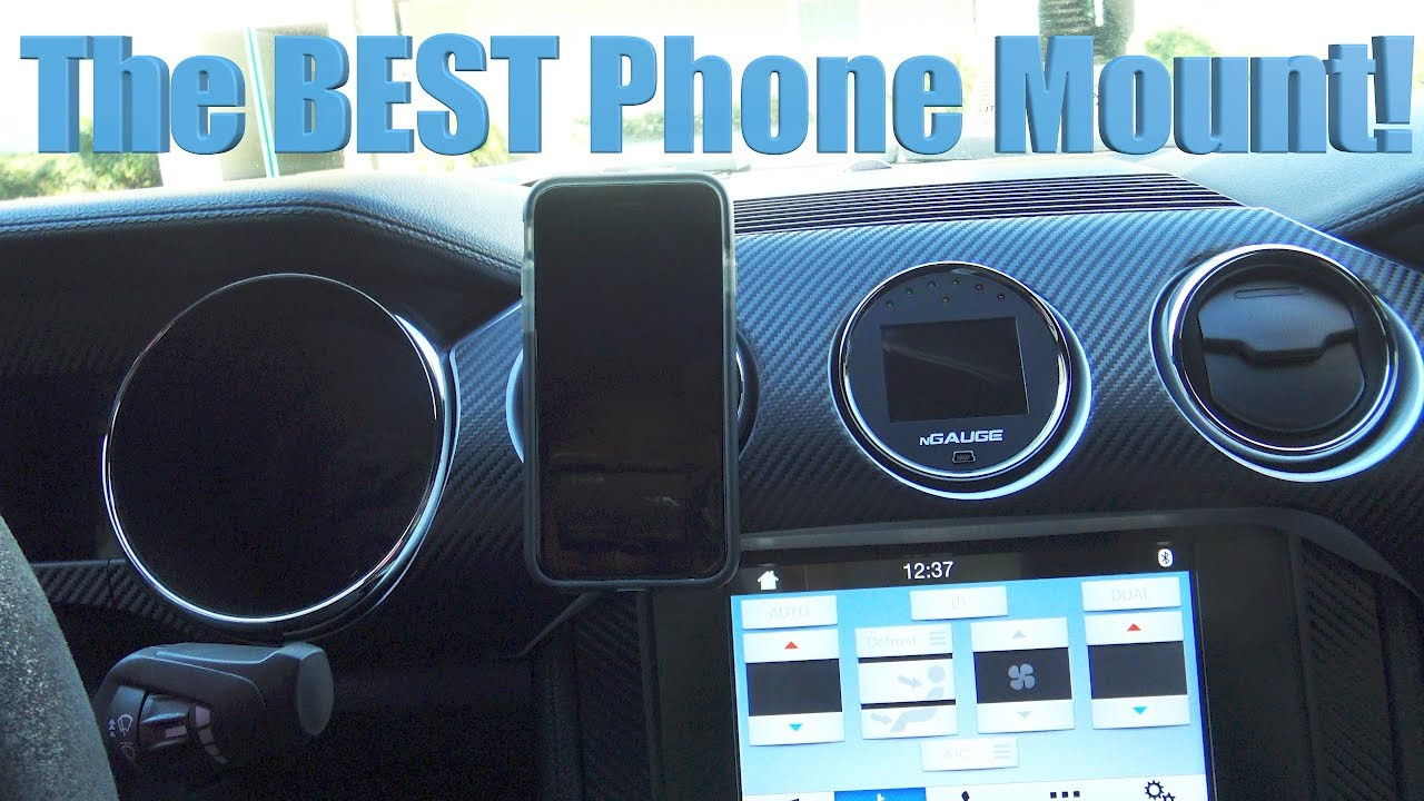 2017 Ford Mustang Gt Premium >> The BEST Cell Phone Mount - YouTube