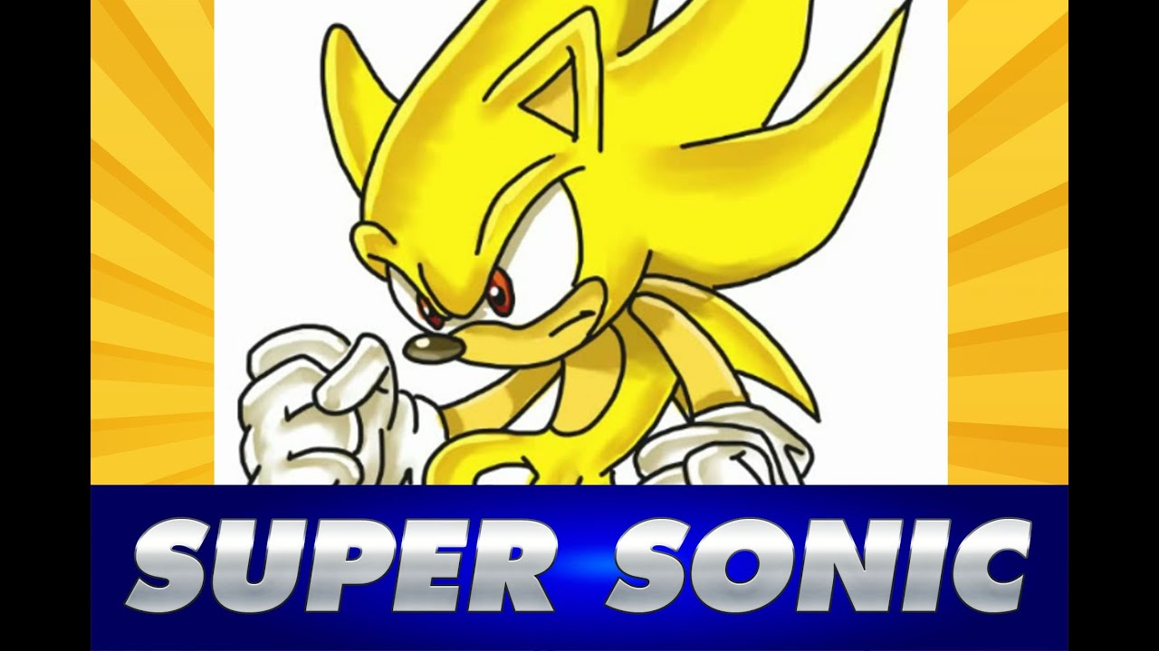 Cmo dibujar a SUPER SONIC  How to draw Super SONIC  YouTube