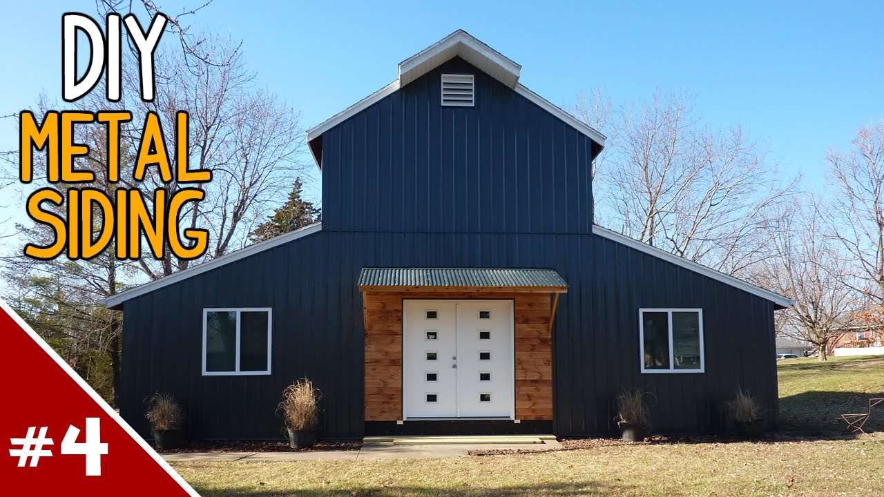 Installing Metal Siding On A House Part 4 Of 4 Youtube