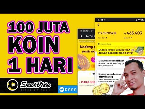 Cara Mendapatkan Banyak Koin Di SNACK VIDEO Hingga 100 JUTA KOIN Dalam Sehari