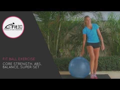Fit ball CORE STRENGTH - ABS WORKOUT