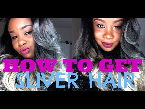 how to silver grey hair youtube